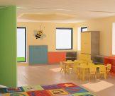 Návrh a realizácia interiéru – školka, Bratislava