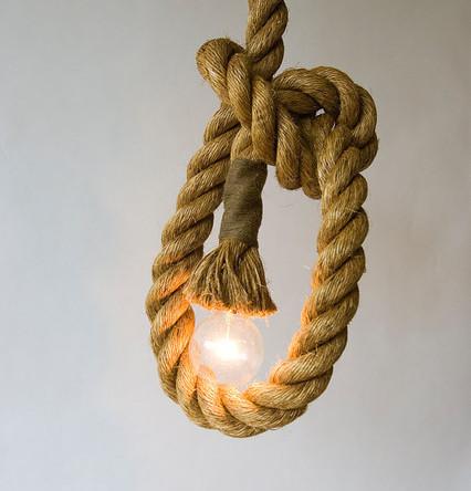 Ak chcete žiť štýlovo potom je toto starodávne svietidlo práve pre Vás2 - Závesný lanový luster v historickom vzhľade s priemerom 25mm, 1m, dve pätice