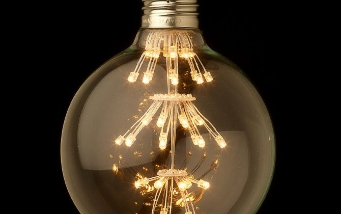 FIREWORKS žiarovka SHINES je žiarovka z retro kolekcie FIREWORKS v tvare gule z minulého storočia3 670x420 - FIREWORKS žiarovka - GLOBUS - E27, 3W, 200lm