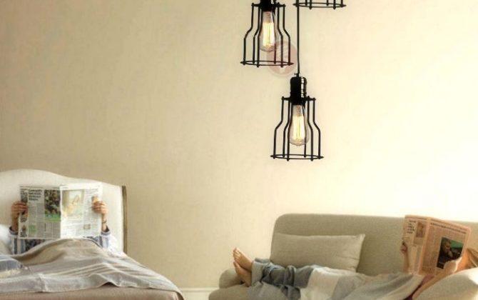 Historické závesné svietidlo s modernou klietkou na žiarovky typu E27 je svietidlo určené na stenu v rustikálnom vzhľade2 670x420 - Historické závesné svietidlo s modernou klietkou