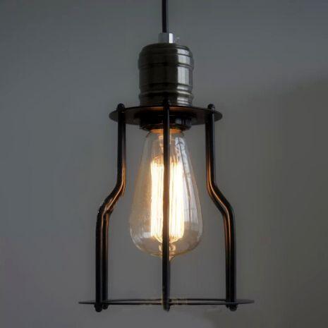 Historické závesné svietidlo s modernou klietkou12 - Historické závesné svietidlo s modernou klietkou