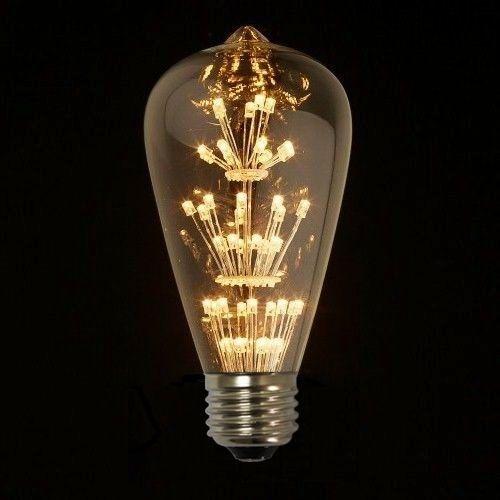 Tento nový typ žiarovky spája historický vzhľad s novou formou LED technológie3 - FIREWORKS žiarovka - TEARDROP - E27, 3W, 200lm
