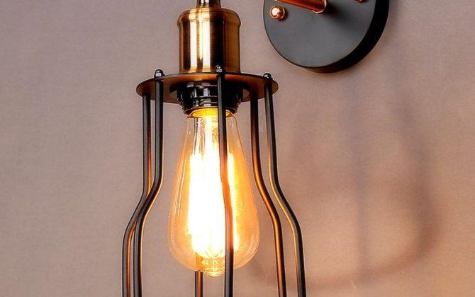 Toto starodávne svietidlo sa nesie v historickom duchu a zaručí obdiv vo Vašej domácnosti. Je unikátne vďaka materiálu a historickému prevedeniu2 670x420 - Historické nástenné svietidlo s klietkou