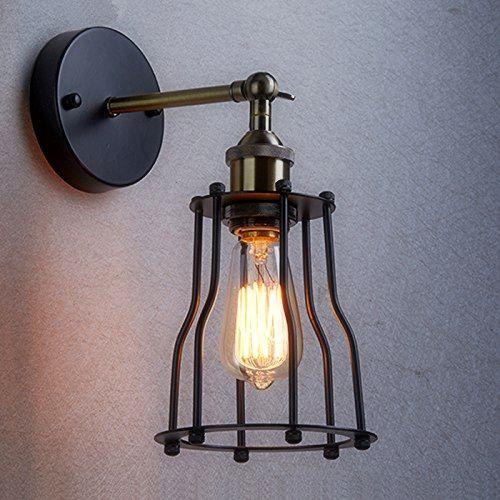 V našom obchode nájdete aj skvelé dekoračné žiarovky z retro dizajne z kolekcie EDISON takže si môžete zariadiť celý byt v rovnakom historickom štýle4 - Historické nástenné svietidlo s klietkou