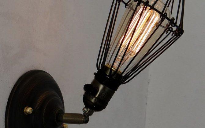Vintage American Iron Cage Wall Lamps Industrial aisle adjustable wall light bar counter Kitchen wall sconce 670x420 - Historické nastaviteľné nástenné svietidlo s klietkou
