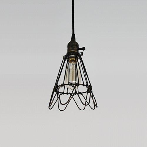 ecopower vintage style industrial hanging light mini cage closing and opening pendant wire lamp guard 1096728 - Historické závesné svietidlo s nastaviteľnou mriežkou