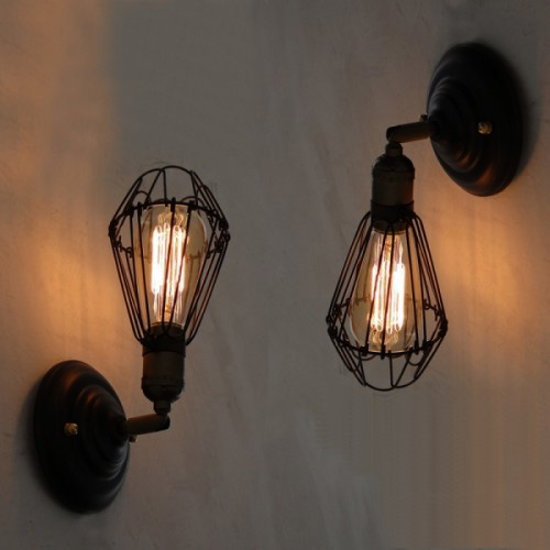 nástenné svietidlo je vhodné pre milovníkov štýlového bývania2jpg - Historické nastaviteľné nástenné svietidlo s klietkou