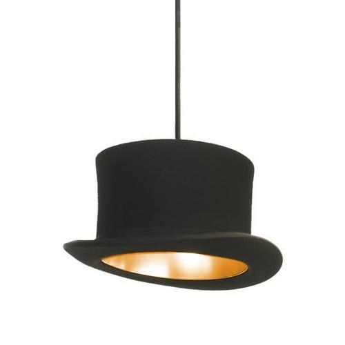 Kreatívne závesné svietidlo Wooster v zlatej farbe je kreatívne svietidlo v tvare klobúka je unikát vďaka kvalitnému materiálu a kreatívnemu prevedeniu 2 - Kreatívne závesné svietidlo Wooster v zlatej farbe