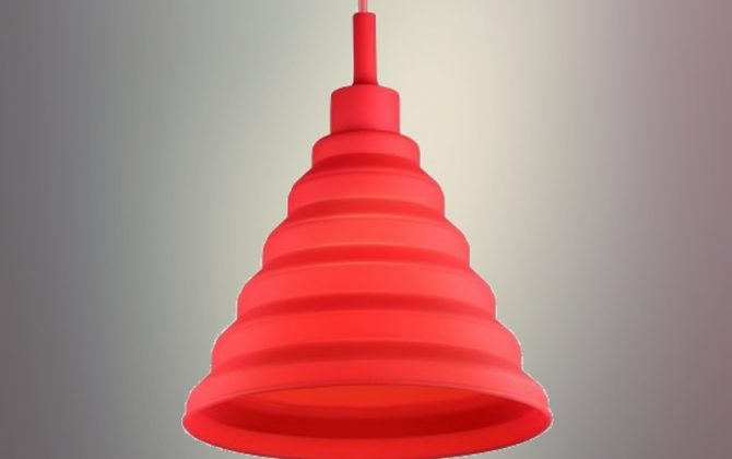 Moderný závesný silikónový luster s textilnou šnúrou v červenej farbe2 670x420 - Moderný závesný silikónový luster s textilnou šnúrou v červenej farbe