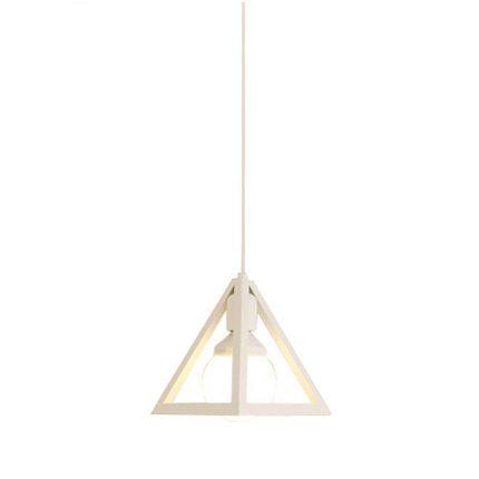 Historické závesné svietidlo Trojuholník v bielej farbe na žiarovky typu E27 je svietidlo určené na stenu v historickom vzhľade2 - Historické závesné svietidlo Trojuholník v bielej farbe