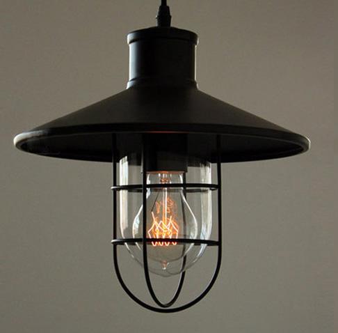 Ak chcete žiť štýlovo potom je toto historické svietidlo práve pre Vás4 - Historické závesné svietidlo Black Cage s čiernym tienidlom
