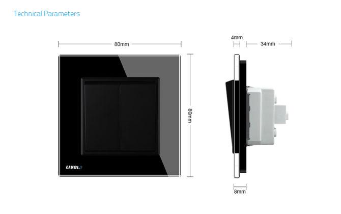Luxusné mechanické vypínače v bielom alebo čiernom prevedení 1 670x420 - Luxusný lustrový vypínač č.5 v čiernom prevedení