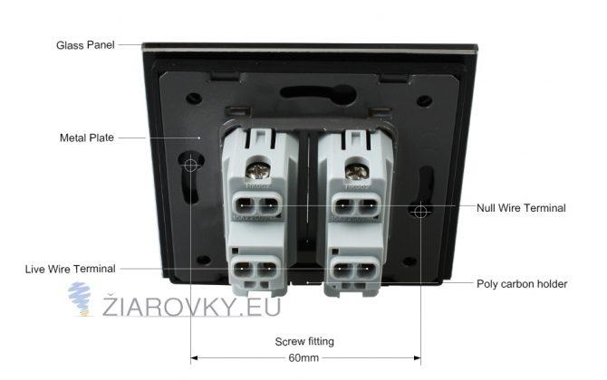 Luxusné mechanické vypínače v bielom alebo čiernom prevedení s lesklou sklenenou dotykovou plochou11 670x420 - Luxusný lustrový vypínač č.5 v čiernom prevedení