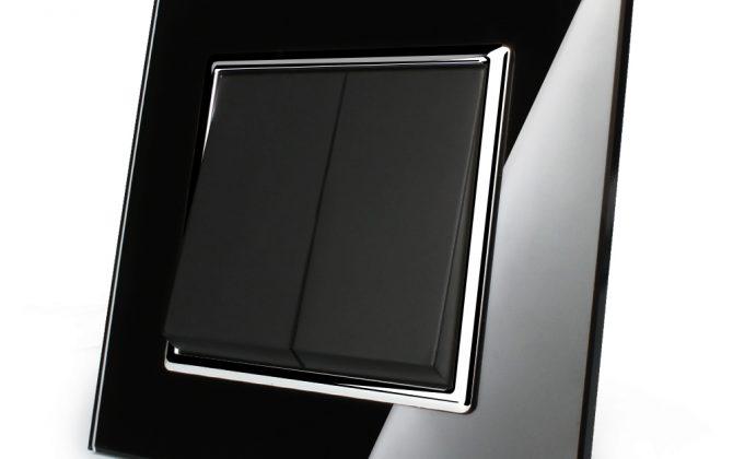 Luxusný lustrový vypínač s lesklou sklenenou mechanickou plochou. Doprajte svojmu domovu eleganciu a luxus pomocou tohto elegantného vypínača1 670x420 - Luxusný lustrový vypínač č.5 v čiernom prevedení