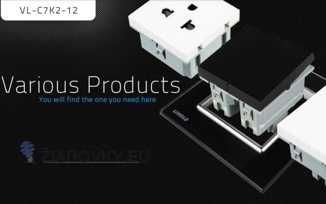 Vypínače sa vyznačujú dlhou životnosťou otrasuvzdornosťou farebnou stálosťou pevnosťou povrchových úprav a lesklosťou skleneného povrchu1 670x420 - Luxusný lustrový vypínač č.5 v čiernom prevedení