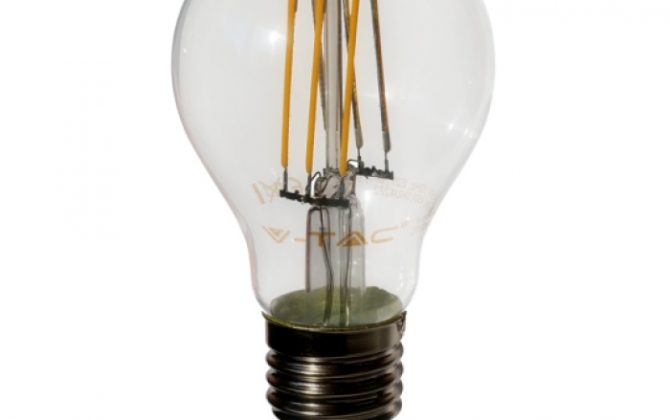 FILAMENT žiarovka CLASSIC je žiarovka z retro kolekcie FILAMENT v tvare klasickej edison žiarovky z minulého storočia 670x420 - FILAMENT žiarovka - CLASSIC - E27, Teplá biela, 6W, 550lm, V-TAC