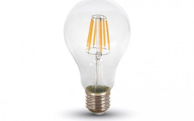 Historická kolekcia žiaroviek FILAMENT 670x420 - FILAMENT žiarovka - CLASSIC - E27, Denná biela, 6W, 550lm, V-TAC