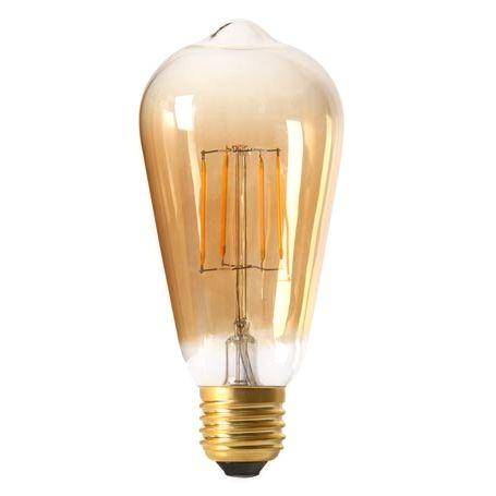 Kolekcia FILAMENT sa hodí ako diskrétne efektné osvetlenie na večerné posedenie. Tento typ žiarovky spája historický vzhľad s novou formou LED technológie. - FILAMENT žiarovka - TEARDROP - E27, Teplá biela, 6W, 350lm, V-TAC
