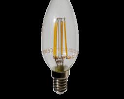 FILAMENT žiarovka - CANDLE - E14, Teplá biela, 4W, 400lm, V-TAC