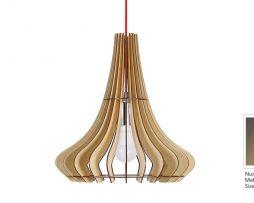 Originálne závesné drevené svietidlo z kolekcie iWood - MAGIC HAT