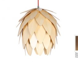 Originálne závesné drevené svietidlo z kolekcie iWood - WATER LILY