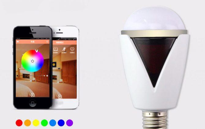 Inteligentná LED žiarovka E27 s bluetooth reproduktorom11 670x420 - Inteligentná LED žiarovka E27 s bluetooth reproduktorom