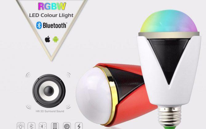 Inteligentná LED žiarovka E27 s bluetooth reproduktorom12 670x420 - Inteligentná LED žiarovka E27 s bluetooth reproduktorom