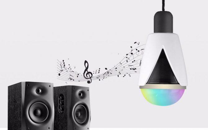 Inteligentná LED žiarovka E27 s bluetooth reproduktorom5 670x420 - Inteligentná LED žiarovka E27 s bluetooth reproduktorom