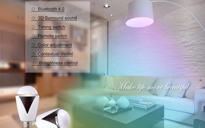 Inteligentná LED žiarovka E27 s bluetooth reproduktorom8 670x420 - Inteligentná LED žiarovka E27 s bluetooth reproduktorom