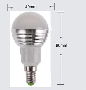LED RGB žiarovka na diaľkové ovládanie 16 funkcií 5W7 - LED RGB žiarovka na diaľkové ovládanie, 16 funkcií, 5W