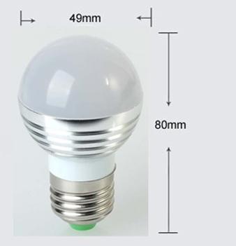 LED RGB žiarovka na diaľkové ovládanie 16 funkcií 5W8 - LED RGB žiarovka na diaľkové ovládanie, 16 funkcií, 5W