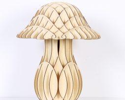 Originálne stolové drevené svietidlo z kolekcie iWood - MUSHROOM3