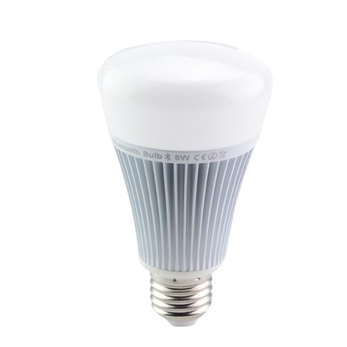 RGB LED žiarovka s bezdrôtovým reproduktorom 8W 550lm20 - RGB LED žiarovka s efektami, 8W, 550lm