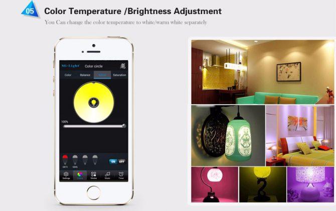 RGB LED žiarovka s bezdrôtovým reproduktorom 8W 550lm21 670x420 - RGB LED žiarovka s efektami, 8W, 550lm
