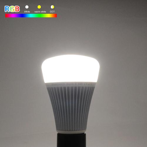 RGB LED žiarovka s bezdrôtovým reproduktorom 8W 550lm26 - RGB LED žiarovka s efektami, 8W, 550lm