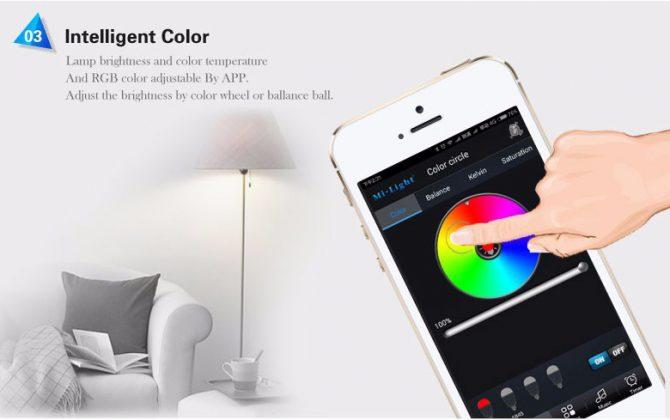 RGB LED žiarovka s bezdrôtovým reproduktorom 8W 550lm27 670x420 - RGB LED žiarovka s efektami, 8W, 550lm