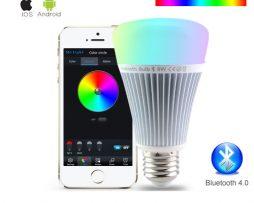 RGB LED žiarovka s bezdrôtovým reproduktorom, 8W, 550lm3