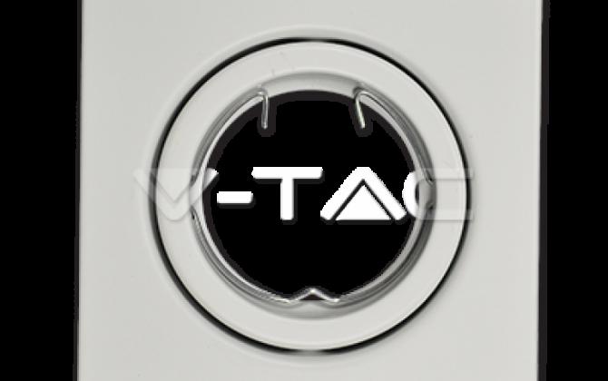 Rámik hranatý výklopný biely V TAC 670x420 - Rámik hranatý výklopný biely, V-TAC