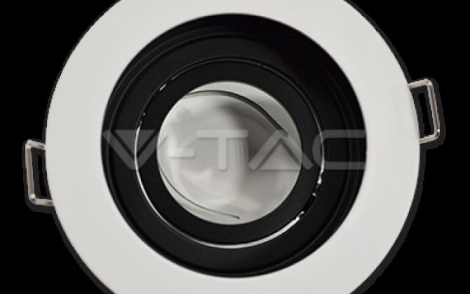 Rámik okrúhly výklopný biely V TAC1 670x420 - Rámik okrúhly výklopný biely, V-TAC