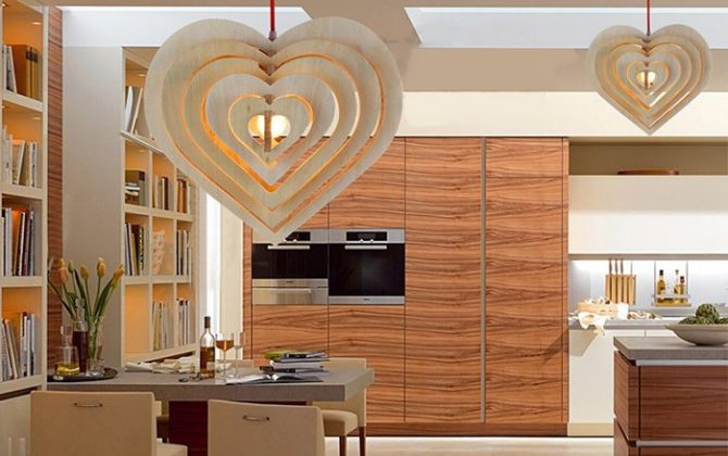 Závesné kreatívne drevené svietidlo HEART12 670x420 - Závesné kreatívne drevené svietidlo - HEART