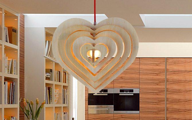 Závesné kreatívne drevené svietidlo HEART6 670x420 - Závesné kreatívne drevené svietidlo - HEART