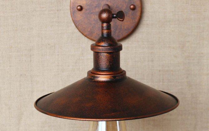 Historické nástenné svietidlo s tienidlom v medenej farbe2 670x420 - Historické nástenné svietidlo s tienidlom v medenej farbe