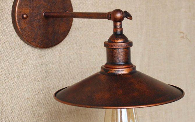 Historické nástenné svietidlo s tienidlom v medenej farbe5 670x420 - Historické nástenné svietidlo s tienidlom v medenej farbe