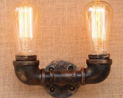 Priemyselné nástenné svietidlo Cloche s dvomi päticami5