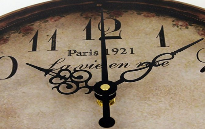 Prepracované vintage nástenné hodiny