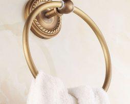 Mosadzný vintage držiak na uterák