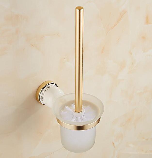 Mosadzný retro držiak na WC kefu v rôznych prevedeniach