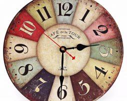 Prepracované retro nástenné hodiny