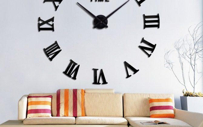 Veľké samolepiace nástenné hodiny