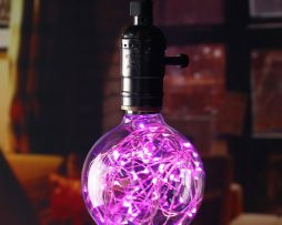 Dekoračná LED žiarovka EDISON, E27, 150lm, Globus, Ružová.
